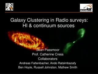 The clustering of galaxies detected by neutral hydrogen emission