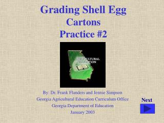Grading Shell Egg Cartons Practice #2