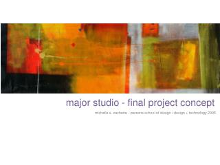 major studio - final project concept