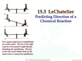 15.3  LeChatelier  Predicting Direction of a Chemical Reaction