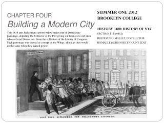 SUMMER ONE 2012 BROOKLYN COLLEGE HISTORY 3480: HISTORY OF NYC SECTION T1E (0852)