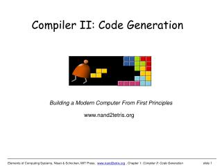 Compiler II: Code Generation