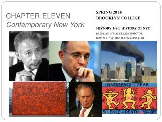 SPRING 2013 BROOKLYN COLLEGE HISTORY 3480: HISTORY OF NYC BRENDAN O'MALLEY, INSTRUCTOR