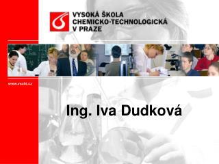Ing. Iva Dudková