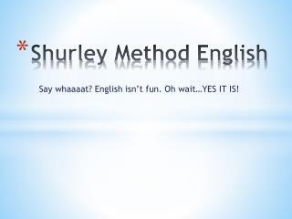 Shurley  Method English