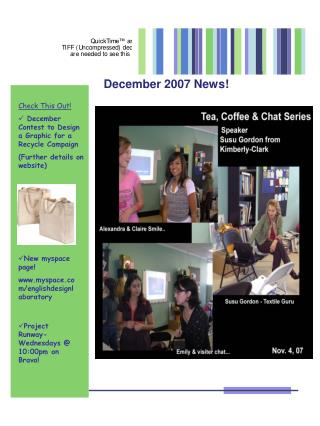 Check This Out!  December Contest to Design a Graphic for a Recycle Campaign