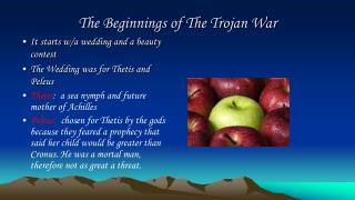 The Beginnings of The Trojan War