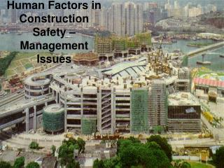 Human Factors in Construction Safety   Management Issues