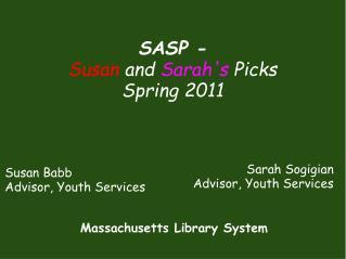 Susan Babb Advisor, Youth Services