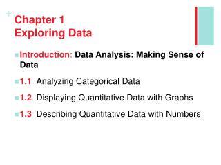Chapter 1 Exploring Data