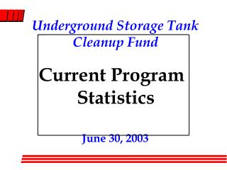 Underground Storage Tank Cleanup Fund