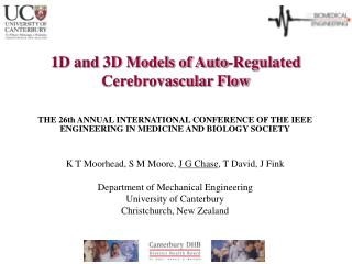 1D and 3D Models of Auto-Regulated Cerebrovascular Flow