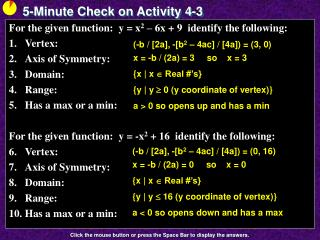 5-Minute Check on Activity  4-3