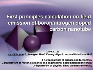First principles calculation on field emission of boron/nitrogen doped carbon nanotube