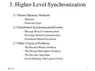 Higher-level synchronization