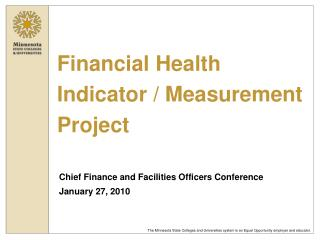 Financial Health Indicator / Measurement Project
