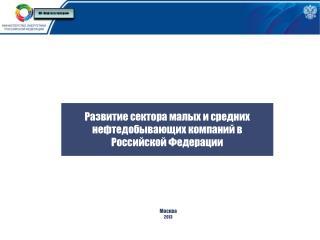 Развитие сектора малых и средних       нефтедобывающих  компаний в  Российской Федерации