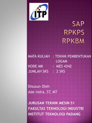 SAP RPKPS  RPKBM