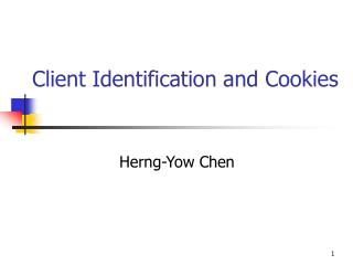 Client Identification and Cookies