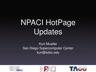 NPACI HotPage Updates