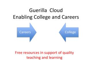 Guerilla  Cloud Enabling College and Careers