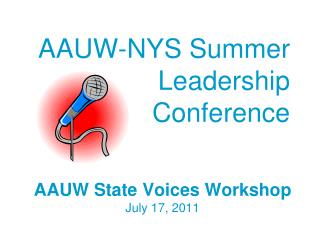 AAUW-NYS Summer   Leadership Conference