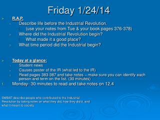 Friday 1/24/14