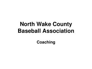 North Wake County Baseball Association