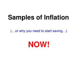 Samples of Inflation