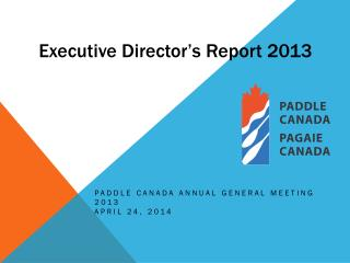 Executive Director ' s Report 2013