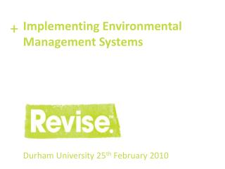 Durham University 25 th  February 2010