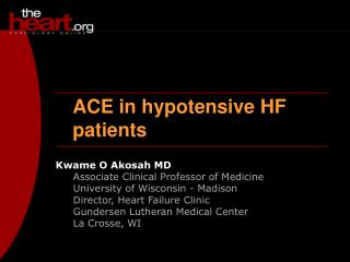 ACE in hypotensive HF patients