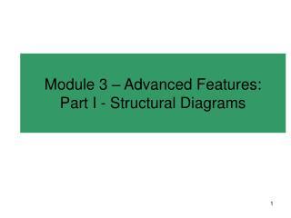 Module 3 � Advanced Features: Part I - Structural Diagrams