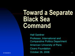 Toward a Separate Black Sea Command