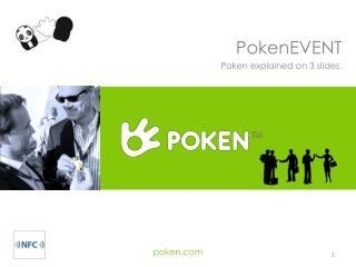 PokenEVENT Poken explained on 3 slides.