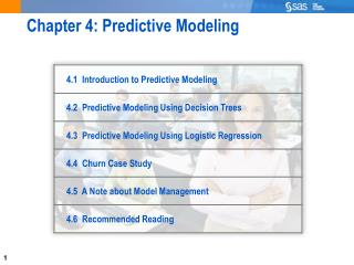 Chapter 4: Predictive Modeling