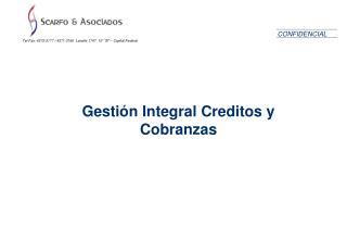 Gestión Integral Creditos y Cobranzas