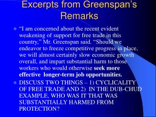 Excerpts from Greenspan's Remarks
