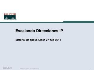 Escalando Direcciones IP