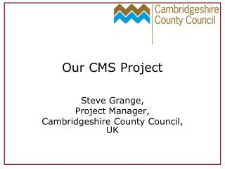 Our CMS Project