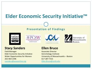 Elder Economic Security Initiative�