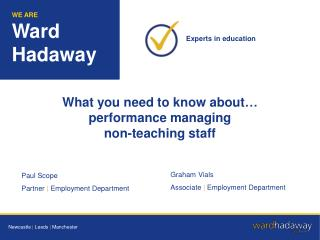 What you need to know about… performance managing  non-teaching staff