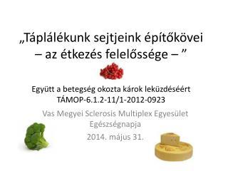 Vas Megyei Sclerosis Multiplex  Egyesület Egészségnapja 2014.  m ájus 31.