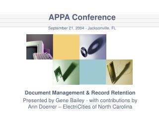 APPA Conference September 21, 2004 - Jacksonville, FL