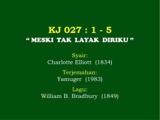 KJ 027  : 1 -  5