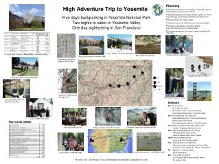 High Adventure Trip to Yosemite
