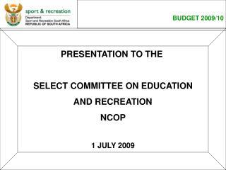 BUDGET 2009/10