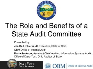 The Role and Benefits of a State Audit  Committee