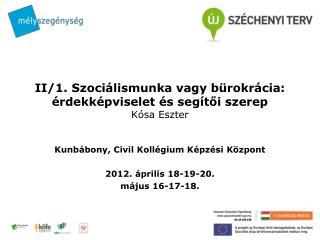 II/1. Szociálismunka vagy bürokrácia: érdekképviselet és segítői szerep  Kósa Eszter