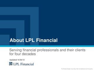 About LPL Financial